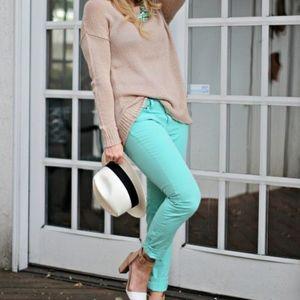 LOFT Women's Mint Green Modern Skinny Jeans | 4P